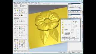 simple flower relief making in ArtCAM