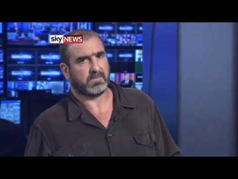 Eric Cantona Talks Football, Film And French Politics On Sky News
