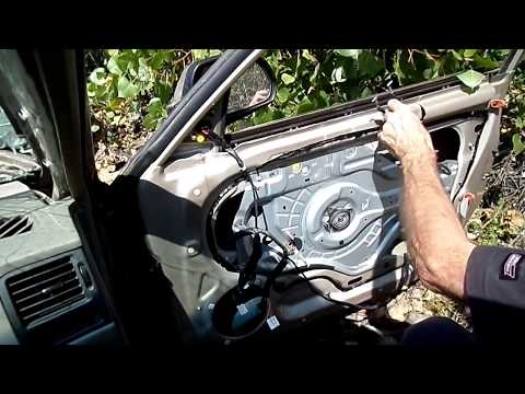 Hyundai Elantra Window Regulator Motor Removal