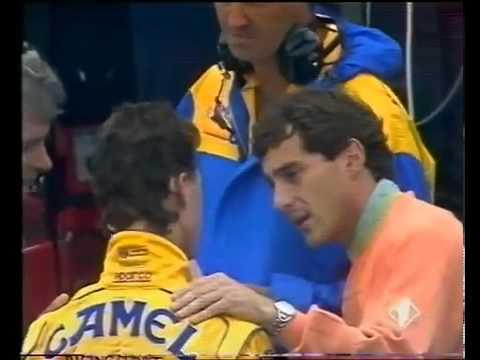 GP França 1992 - Senna dando esporro no Schumacher(Completo)