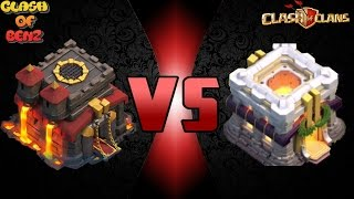 Clash Of Clans - บ้าน10ไปไฝว้กับบ้าน11