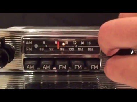 Chromelondon.com BLAUPUNKT FRANKFURT US 108 FM VINTAGE CAR RADIO WITH CHROME FACIA AND MP3
