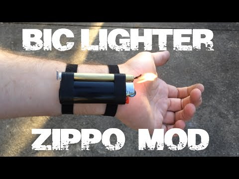 Wind-Resistant Lighter Mod w/ Wrist Mount