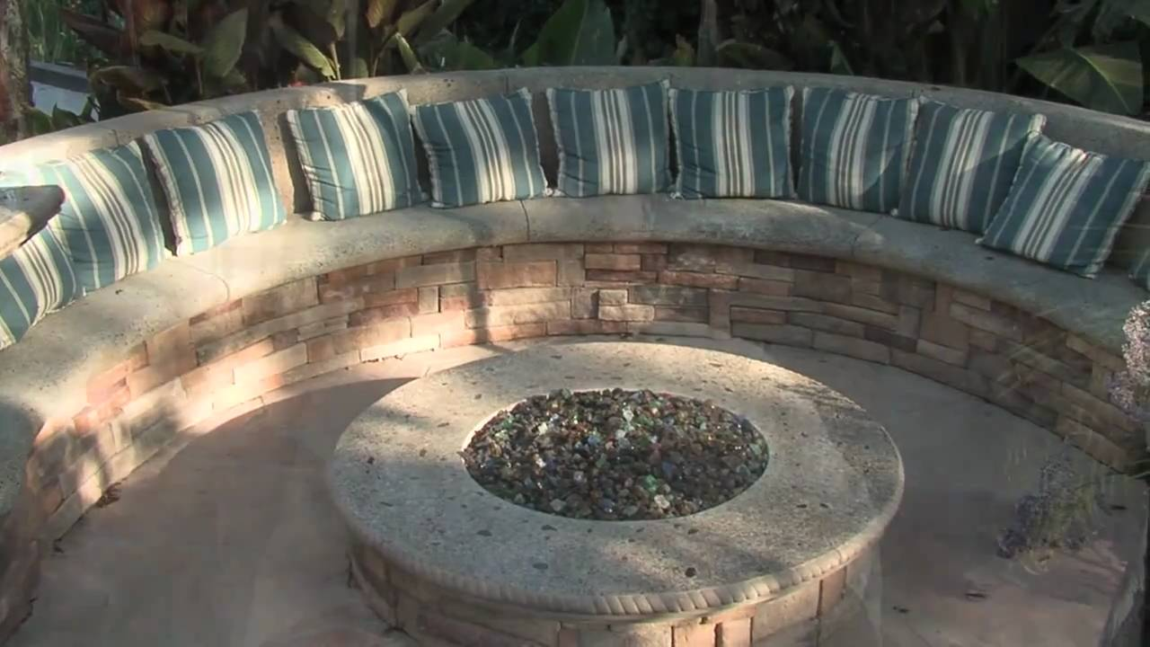 Gas Fire Pit Seating Amp Misting System Youtube