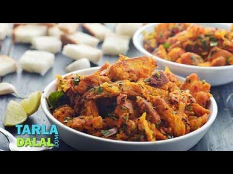Bread Upma/ Recipe Using Leftover Bread/ Quick and Easy Breakfast or Snack recipe by Tarla Dalal