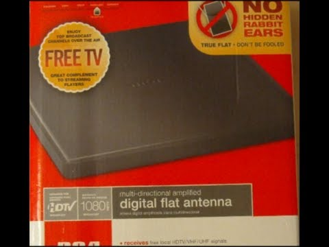 RCA ANT1450BR Indoor Digital Flat HDTV Amplified Antenna - Unboxing & Review - Part 1