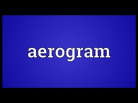 Header of aerogram
