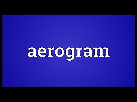 Header of aerogram