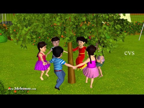 Here We Go Round The Mulberry Bush - 3d Animation Nursery Rhymes For Children video