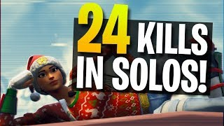 24 Kills in Solo vs. Solo Gameplay (Fortnite Battle Royale)