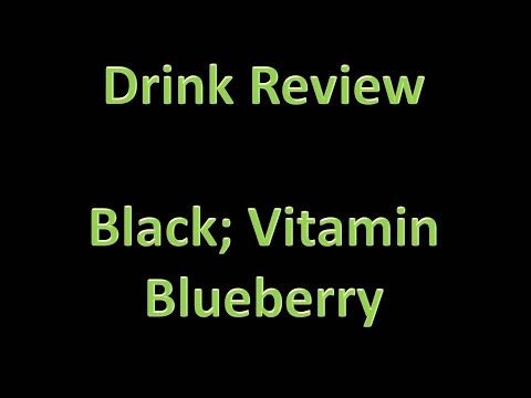 Drink Review - Black: Vitamin Energy; Blueberry