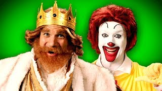 Ronald McDonald vs The Burger King. ERB Behind the Scenes