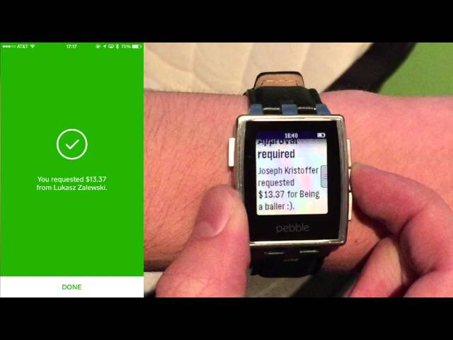 Android Wear Notifications on Pebble (Square Cash)