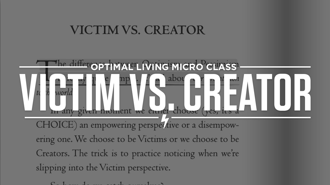 victim vs creator Free essay: victim language creator language 1 if they'd do something about the parking on campus, i wouldn't be late so often there is little space in the.