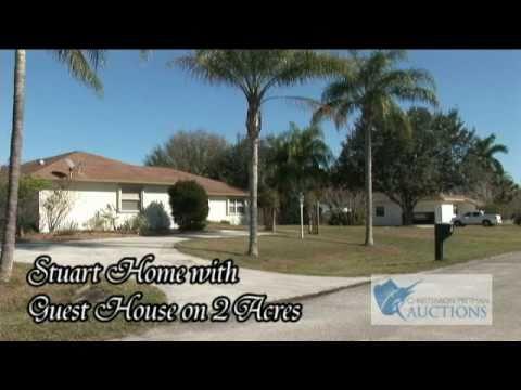 2 Acre Home Auction 5595 SW Evans Drive Stuart Florida Christenson Pittman Auctions