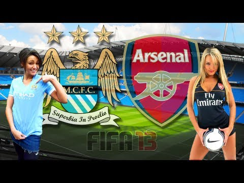 Manchester City Vs Arsenal Highlights | Full FIFA 13 Match Gameplay | XBOX 360 [HD]