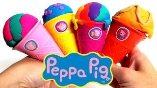 Peppa Pig Ice Cream Parlor Building Toys Play Doh Rainbow Ice Cream DIY La Heladería de Peppa Pig