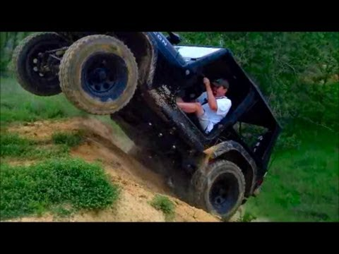 Jeep Wrangler Rubicon Going Crazy Vertical On Steep Hill Climb