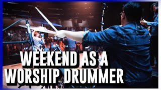 Weekend As a Worship Drummer!! // Vlog #17