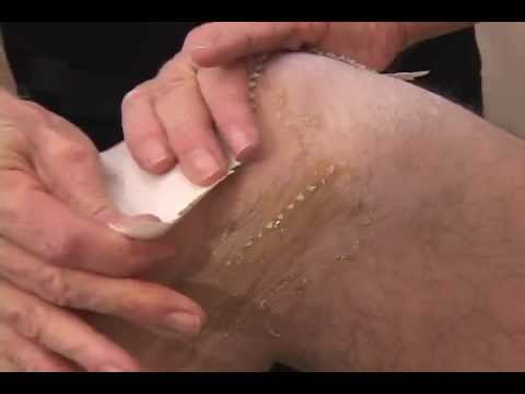 Video gay male body waxing
