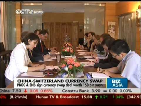 China & Switzerland sign currency swap deal