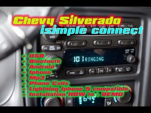 Chevy Silverado CONNECT BlueTooth iPod USB Android Mp3 Aux 3.5 by AutoToys.com / Isimple ISGM655