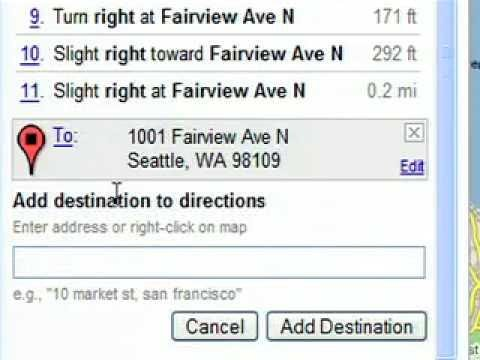Google Maps: Draggable Driving Directions