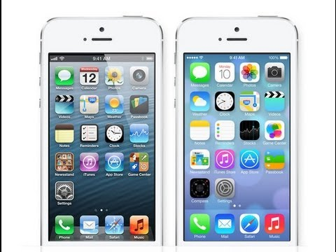 iOS 7 vs. iOS 6: Side By Side Comparison (Design)