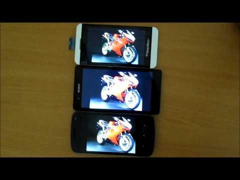 Perbandingan Layar BlackBerry Z10, Sony Xperia Z dan Samsung Galaxy ...
