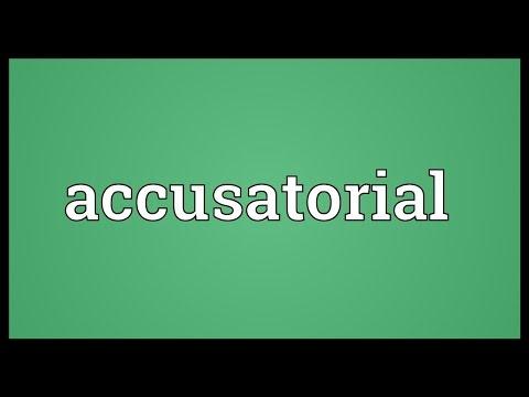 Header of accusatorial