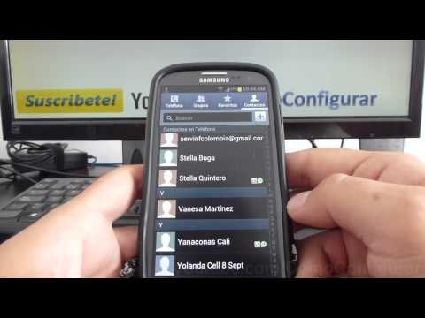como eliminar todos contactos del telefono samsung Galaxy s3 i9300 español Full HD