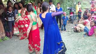Dance on nepali wedding's in Nepal part 2