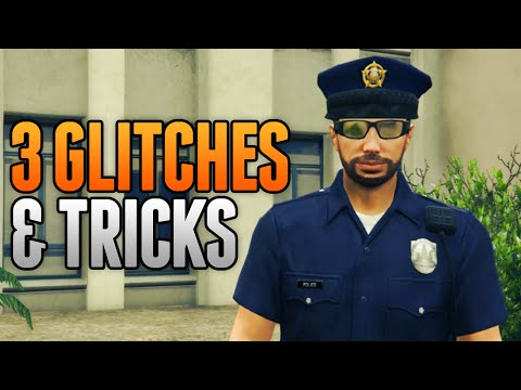 GTA 5 Online - 3 NEW GLITCHES & TRICKS (Police Outfit Glitch, Launch Glitch & Secret Location)