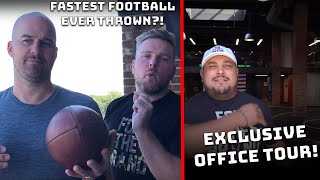 Pat McAfee Office Tour; Fastest Football Ever Thrown? Pat McAfee: Hardest Working Man in Sports Ep.5