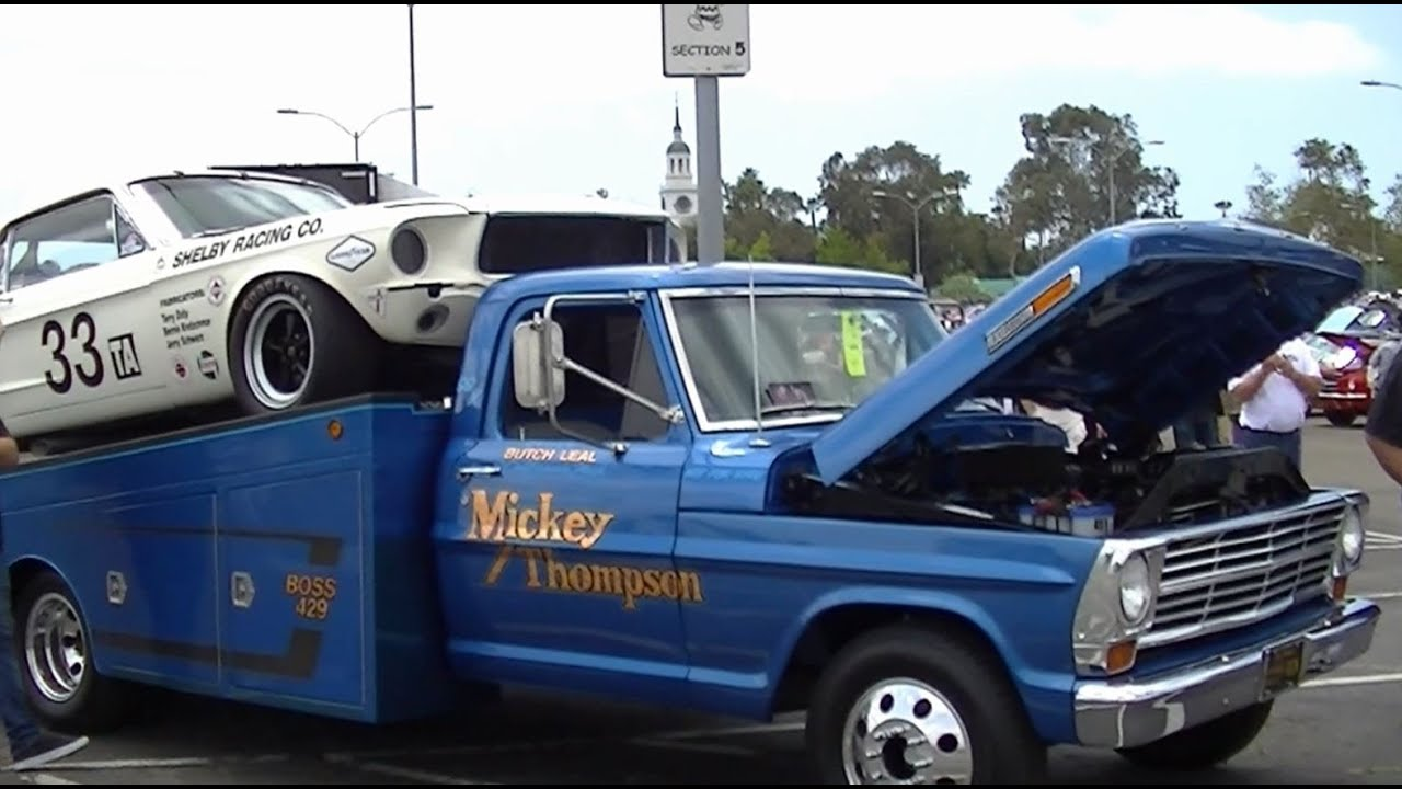 Ford racing vintage team hauler amp full shelby section walk through