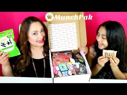 GIANT BOX OF SNACKS from Munch Pak food from around the world! B2cutecupcakes