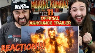 MORTAL KOMBAT 11 - Official Announce TRAILER REACTION!!!