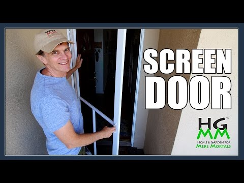 Installing a Home Depot Screen Door