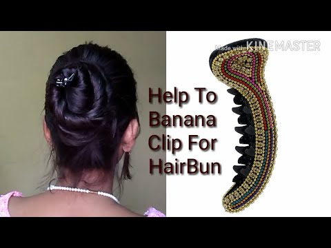 Help To Banana clip For Beautiful Hairstyle Bun/Beauty Style Tips