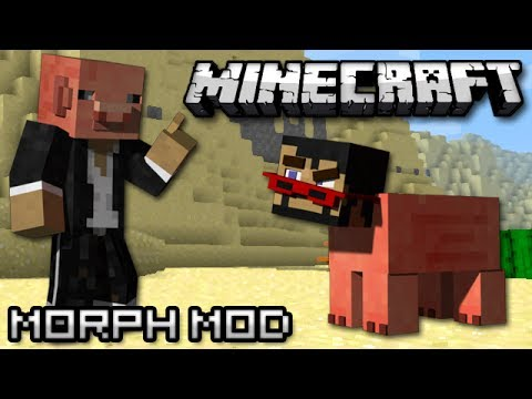 Minecraft: Become a Mob! (Morph Mod Showcase)