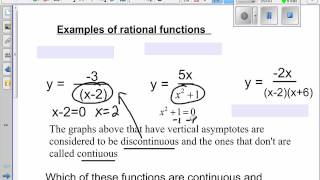 notes 8 3 rational functions discontinuous or continuous