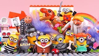 A lot of Minions recieve Gifts from BigSecret Despicable Me Stop Motion