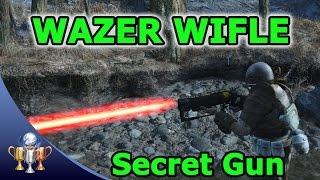 Fallout 4 - Wazer Wifle Secret Unique Weapon & Secret Quests - Unlimited Ammo Capacity