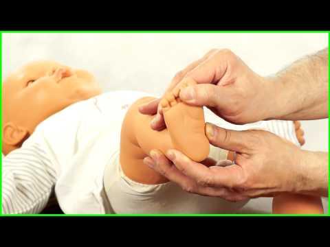 Как сделать новорожденному общий массаж