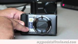 Sony DSC-HX9V compact digital camera unboxing and quick review part 1