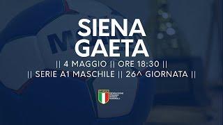 Serie A1M [26^]: Siena - Gaeta 19-24