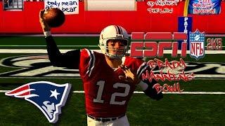 ESPN 2K5 NFL Football - (XB) - 1080p HD 60 FPS | Colts at Pats | The Brady Manning Bowl!