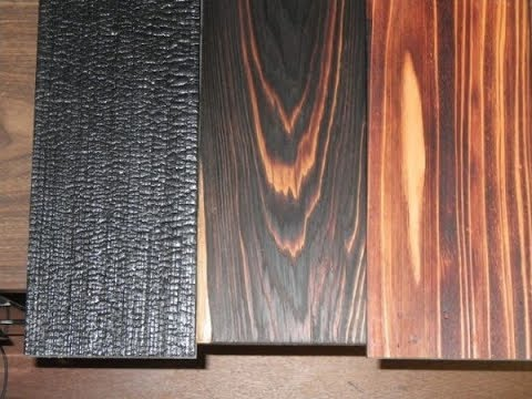 Способы декоративного обжига дерева (обычный и японский)