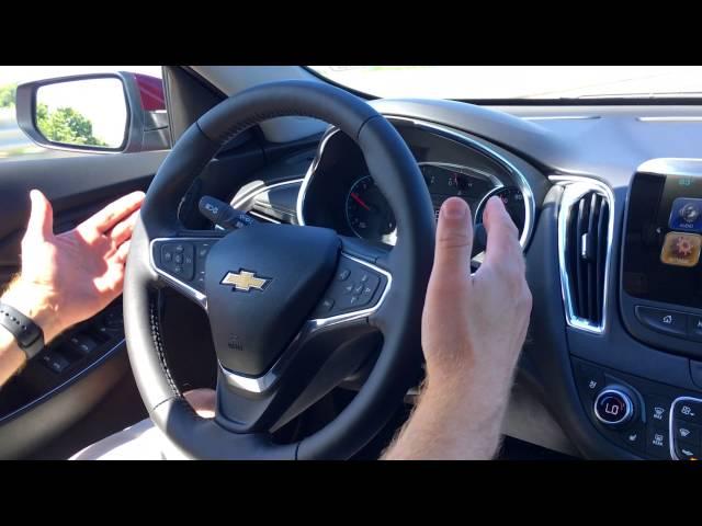 Chevrolet Malibu Self Driving Lane Keep Assist Test