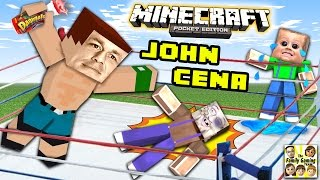 John Cena at mijn yoghurt !! (Minecraft WWE verrassing battle) Fgteev